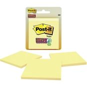 Post-it Super Sticky Notes, 3 X 3 in. Canary Yellow 3 Pk.
