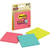 Post-it Super Sticky Notes, 3 X 3 in. Multi Color 3 Pk.