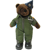 Bear Forces of America Plush Bear in the Air Force Flight Suit, 11 in.