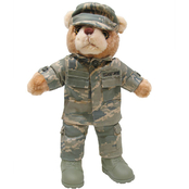 Bear Forces of America 11 in. Female Plush Bear in the Airman Battle Uniform (ABU)