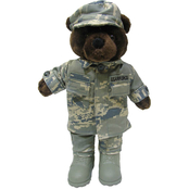 Bear Forces of America Plush Bear in the Airman Battle Uniform (ABU), 11 in. Male