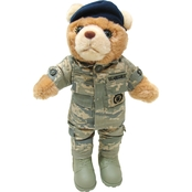 Bear Forces of America 11 in. Plush Bear in the Air Force Sec Pol ABU Female