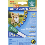 Hartz UltraGuard Pro Flea and Tick Drops for Dogs and Puppies Under 15 Lb.