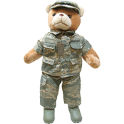 Bear Forces of America 20 in. Plush Air Force Bear in Airman Battle Uniform, Female