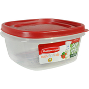 Rubbermaid 5 Cup Square Easy Find Lids Food Storage Container