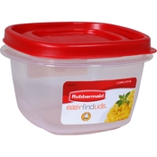 Rubbermaid 2 Cup Easy Find Lids Container