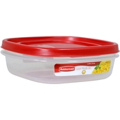 Rubbermaid 3 Cup Square Easy Find Lids Food Storage Container