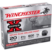 Winchester Super-X 20 Ga. 2.75 in. 0.75 oz. Rifled Slug, 5 Rounds
