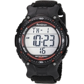 Armitron Men's Sport Digital Chronograph Black Nylon Strap Watch 40/8159BLK