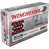 Winchester Super-X .30-06 165 Gr. Jacketed Soft Point, 20 Rounds