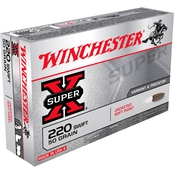 Winchester Super-X .220 Swift 50 Gr. Jacketed Soft Point, 20 Rounds