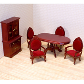 Melissa & Doug 6 pc. Dollhouse Dining Room Furniture