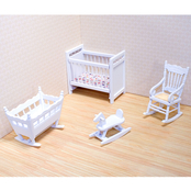 Melissa & Doug 4 Pc. Dollhouse Nursery Furniture Set