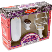 Melissa & Doug Dollhouse Bathroom Furniture Set