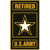 Army Retired Insignia Lapel Pin