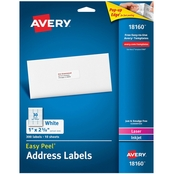 Avery Easy Peel Address Labels, 300 pk.