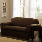 Maytex Piped Faux Suede 2 pc. Sofa Slipcover