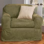 Maytex Piped Faux Suede 2 pc. Chair Slipcover