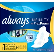 Always Infinity Regular with Wings Unscented Pads 18 ct.