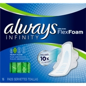 Always Infinity Super Pads with Wings 16 ct.