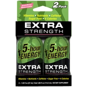 5 Hour Energy Extra Strength Drink, 2 Pk.