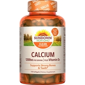 Sundown Naturals Calcium 1200 plus D Liquid Filled Softgels 170 Pk. Value Size