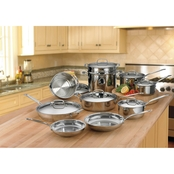 Cuisinart Chef's Classic Stainless Steel 17 pc. Cookware Set