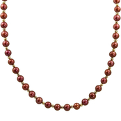 14K Yellow Gold 18 in. 6.5-7mm Cranberry Cultured Freshwater Pearl Necklace