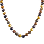 14K Yellow Gold 18 in. 8-8.5mm Single Strand Multicolor Pearl Necklace