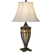 Pacific Coast Lighting Lexington Transitional Table Lamp with Night Light