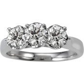 14K White Gold 1 CTW Round Diamond Ring