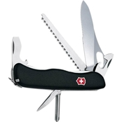 Swiss Army One Hand Trekker Black 12 Function Multipurpose Knife