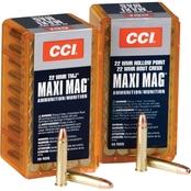 CCI Maxi Mag .22 WMR 30 Gr. Jacketed Hollow Point +V, 50 Rounds