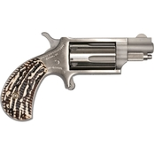 NAA Mini Revolver 22 WMR 1.125 in. Barrel 5 Rds Revolver Stainless Steel Stag
