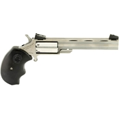 NAA Mini Master 22 WMR 22 LR 4 in. Barrel 5 Rnd Revolver Stainless Steel AS