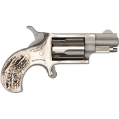 NAA Mini Revolver 22 LR 1.125 in. Barrel 5 Rnd Revolver Stainless Steel Stag