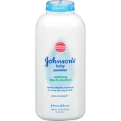 Johnson's Baby Powder Pure Cornstarch Soothing Aloe and Vitamin E