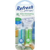 Refresh Your Car Cucumber Melon and Fresh Linen Dual Vent Sticks 4 Pack