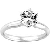 14K Gold 1 1/2 Ct. Round Diamond Solitaire Ring