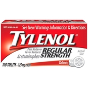 Tylenol Regular Strength Tablets, 325 Mg, 100 Ct.
