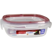 Rubbermaid Lock-its 3 cup Square Food Storage Container