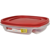 Rubbermaid 4.8 Cup Square Divided Food Storage Container