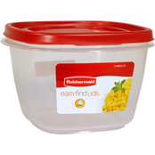 Rubbermaid 7 Cup Square Easy Find Lids Food Storage Container