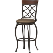 Linon Curves Back 30 in. Bar Stool