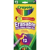 Crayola Erasable Colored Woodcase Pencil Set