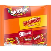 Wrigley 39.1 oz. Fun Size Skittles and Starburst Original Candy Bag