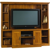 Sauder Harvest Mill Home Theater Wall Unit