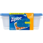 Ziploc Large Rectangular Containers 2 pk.