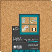 The Board Dudes Cork Tiles 4 pk.
