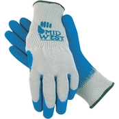 Midwest Gloves & Gear Men's Rubber Coated Non Slip Knit Gloves